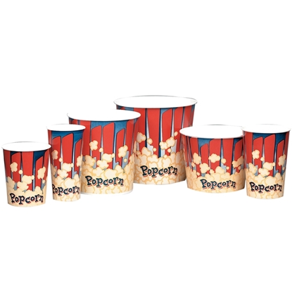 Picture of Red and Blue Pattern Popcorn Cups
