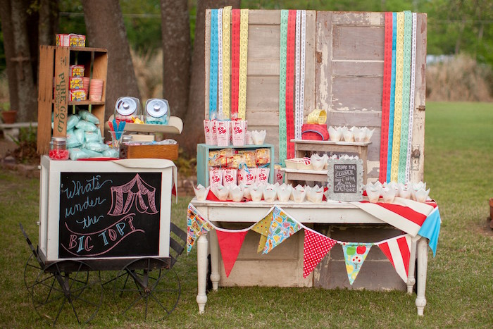 Carnival Theme Gender Reveal Baby Shower