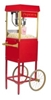 FunPop 4 oz. Popcorn Machine 2404 on Red Cart 2649CR