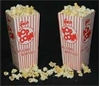 Red & White Popcorn Boxes Open Top
