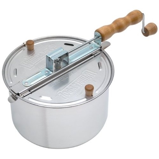 Silver Whirley Pop Stove Top Popper