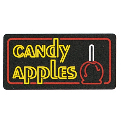 Lighted Candy Apple Sign 4984