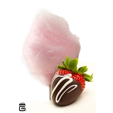 Picture of CHOCOLATE STRAWBERRY Flossugar - 25 lb. Bulk Box
