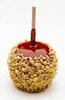 candy apple with granulated peanuts