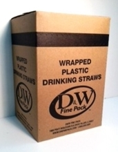Wrapped Drinking Straws 500/box