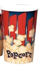 Red and Blue Popcorn Cup 32oz 25/Sleeve