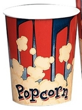 Picture of Red and Blue Pattern Popcorn Cups 44 oz.- Packed 25/sleeve
