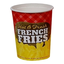 #2301 16 oz. Printed Paper French Fry Cup
