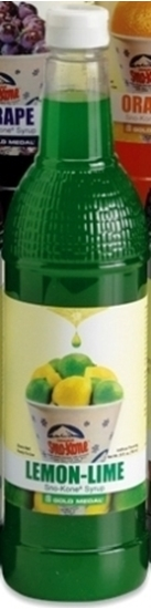 Lemon-Lime Sno-Treats syrup Gold Medal 1426