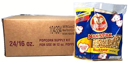 Naks Pak Kits For 12oz Popper CASE SPECIAL
