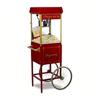 FunPop 8 oz. Popcorn Machine on 2689CR cart