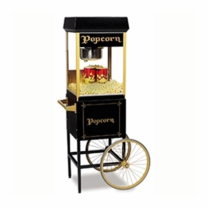 FunPop 8 oz. Popcorn Machine on black cart