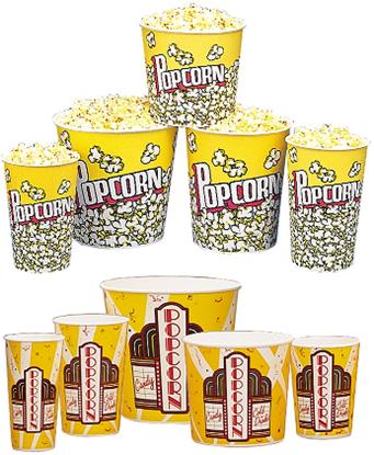 Popcorn Tubs Buckets Gold Medal