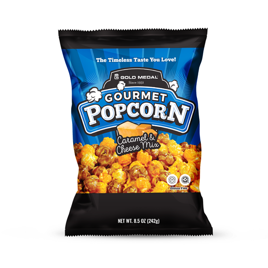 Picture of Caramel & Cheddar Cheese mix Large 8.5oz. bags 3739
