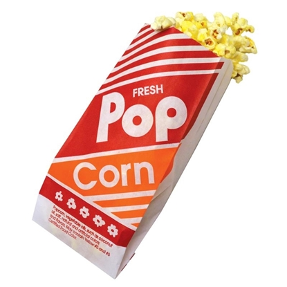 Picture of Popcorn Bags Paper 9 1/2 in. - 100qty